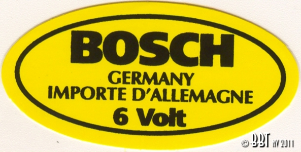 Original 6 Volt Bosch Coil Sticker
