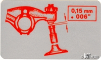 Original Valve Setting Sticker