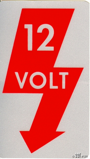 Original 12V Sticker