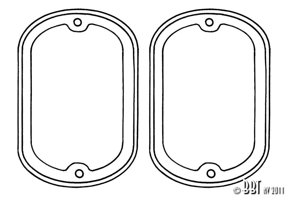 Splitscreen Bus Tail Light Seals - 1962-67 (Also Baywindow Bus - 1968-71) - Top Quality