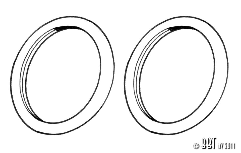 Splitscreen Bus Indicator Seals - 1955-63 (Also Beetle Indicator Seals - 1955-57 Oval Window Beetle)
