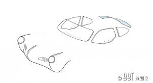 Karmann Ghia 60-74 Heated Rear Window - Clear Glass