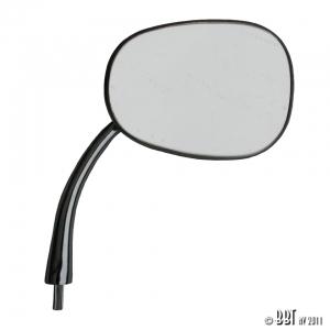 Beetle FLAT 4 Oval Hinge Pin Mirror - Right - 1950-67