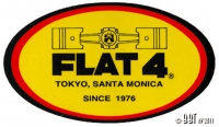Flat 4 Oval Sticker Kit (3 Piece)