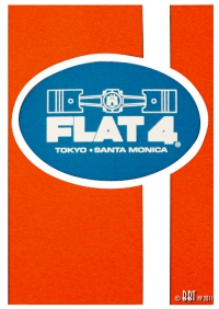 ON SALE Flat 4 Racing Stripe Sticker