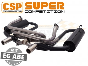 CSP Supercomp Exhaust System (J Tubes and Twin Carbs)