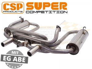 CSP Stainless Steel Supercomp Exhaust System (J Tubes and Twin Carbs)