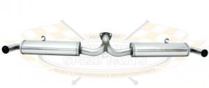 CSP T2 50-67 Stainless Steel Twin Quiet Pack Muffler (For Supercomp Header)