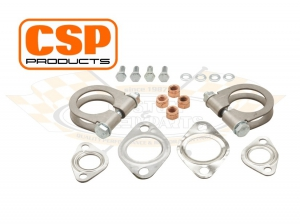CSP Type 1 Exhaust Fitting Kit (Twin Tailpipes) - 25HP And 30HP Type 1 Engines