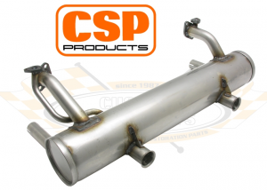 CSP Stainless Steel Stock Style Muffler - 25HP And 30HP Type 1 Engines