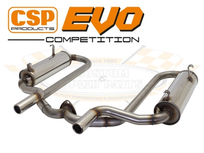 Beetle CSP EVO Competition Exhaust - 42mm Bore (For Use With CSP Heat Exchangers)