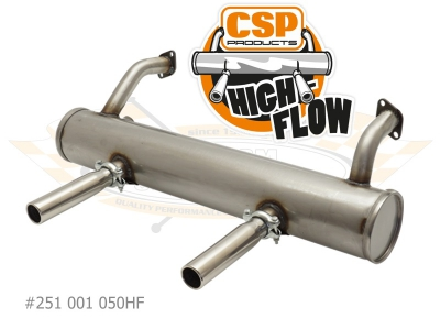 Beetle CSP High Flow Exhaust - 1963-79 - 1300cc-1600cc Without Heat Risers