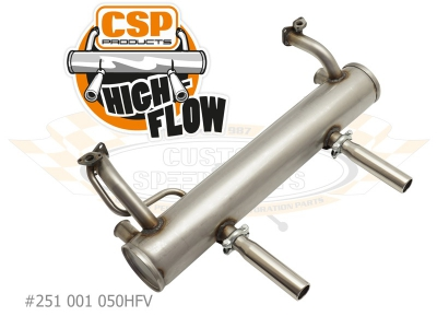 Beetle CSP High Flow Exhaust - 1956-60 - 30HP With Heat Risers