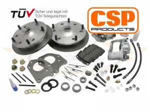 CSP Type 3 (27mm Inner Wheel Bearing) Wide 5 Front Disc Brake Conversion - 5x205 PCD - Cross Drilled
