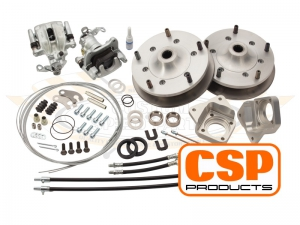 CSP T1 -67 Wide 5 Rear Disc Brake Conversion - 5x205 PCD - Cross Drilled