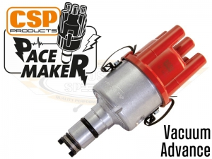 CSP Pacemaker Distributor - Vacuum Advance With Silver Body And Red Cap