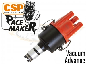 CSP Pacemaker Distributor - Vacuum Advance With Black Body And Red Cap