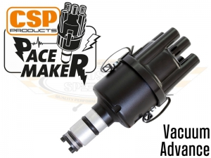 CSP Pacemaker Distributor - Vacuum Advance With Black Body And Black Cap
