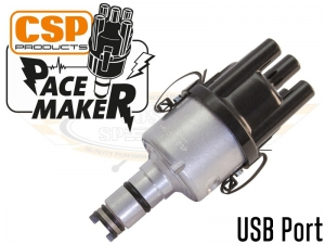 CSP Pacemaker Distributor - USB Port With Silver Body And Black Cap