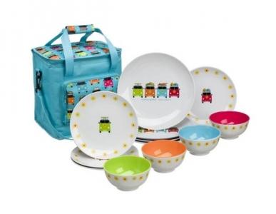 Camper Smiles Dining Set With Cooler Bag