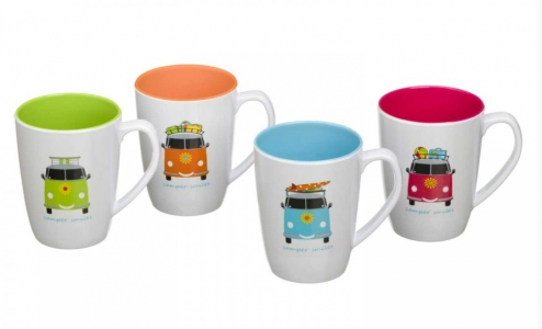 Camper Smiles Mug Set (x4)
