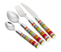Camper Smiles Stripe Cutlery Set (16 Piece)