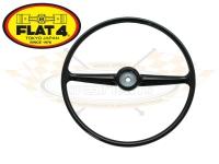 Splitscreen Bus Steering Wheel - Black - 1955-67 - FLAT 4