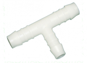 Nylon Fuel Hose Reducing T-Piece 6mm Inlet 8mm Outlets