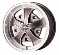 5x205 PCD JBW Iron Cross Alloy Wheel (5.5x15) Gun Metal Grey With Machined Highlights