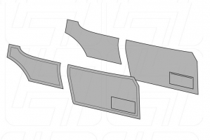 Karmann Ghia Coupe Door Panel Set - 1956-63 (With Pockets)