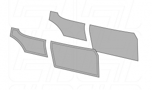 Karmann Ghia Coupe Door Panel Set - 1956-63 (Without Pockets)