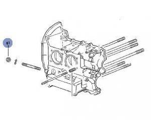 Type 1 Lower Engine Stud Nut