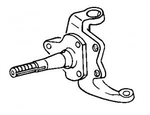 Baywindow Front Stub Axle - 1971-72  - Left - Second Hand