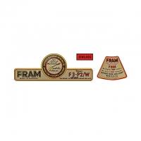 FRAM Oil Filter Kit Sticker Kit