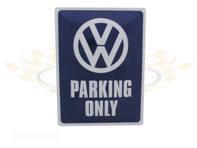 Metal Plate VW Parking Only