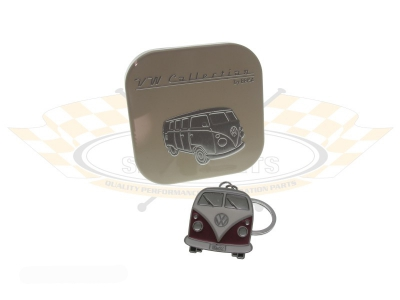 Red VW Splitscreen Bus Key Ring