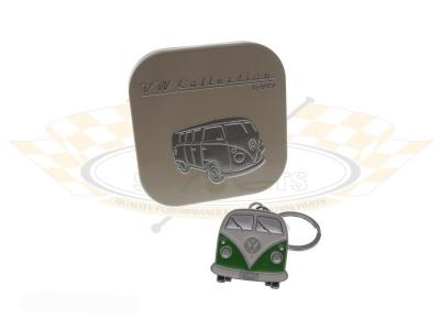 Green VW Splitscreen Bus Key Ring