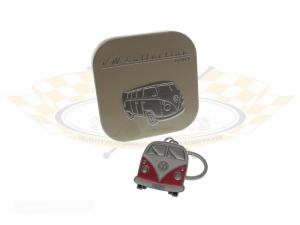 Orange VW Splitscreen Bus Key Ring