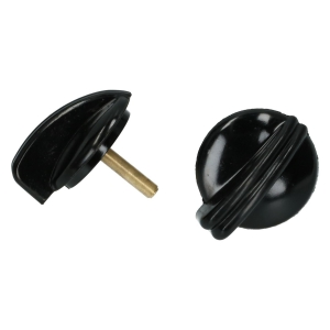 Beetle Light Switch Knob And Wiper Switch Knob - 1950-52 - Black Bakelite