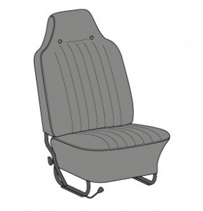US Spec Beetle Seat Cover Set (Highback Style) - 1968-69