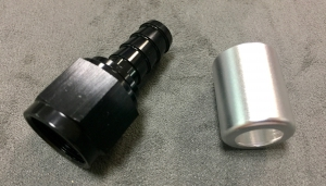 Air Filter Breather Elbow - AN8 Straight
