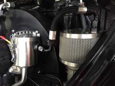 Vintage Speed Oil Filler AN8 Hose Kit - Single Breather Vent