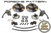 Beetle Front Disc Brake Conversion Kit 5x130 With Drop Spindles (Porsche Pattern) - 1966-79