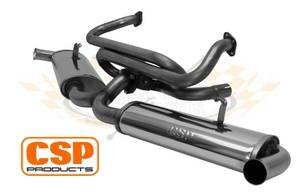 CSP T2 -67 Stainless Steel Twin Quiet Pack Exhaust System (J Tubes and Twin Carbs)